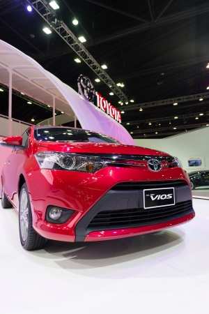 Thailand - March 26 : All new Toyota Vios on display at the 34st Bangkok International Motor Show  on March 26; 2013 in Bangkok, Thailand.