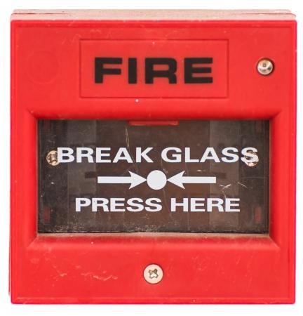 uaktywnić: Red urzÄ…dzenia sygnalizacji pożaru aktywować metodÄ… przycisku, samodzielnie Zdjęcie Seryjne
