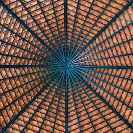 ambassadors: construction of under roof made by steel,abstract background