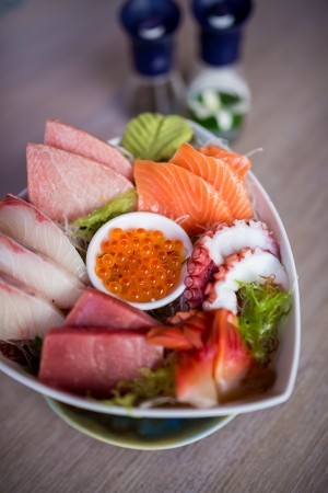 Sashimi Set in triangular bowl photo
