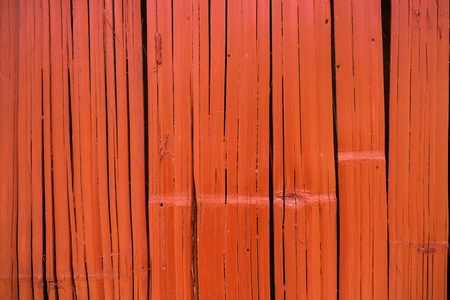Orange wood board plank texture background photo
