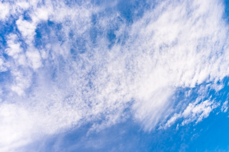 cloud scape: Cloud scape on vivid blue sky