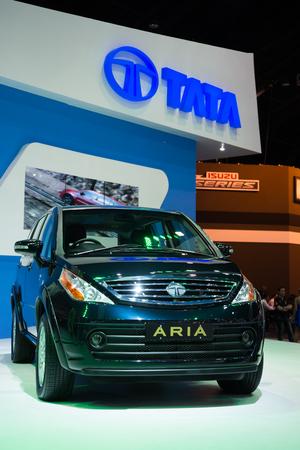 aria: BANGKOK - NOVEMBER 28 : TATA ARIA on display at The 30th Thailand International Motor Expo 2013 in Bangkok, Thailand. Editorial