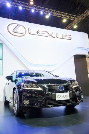 lexus auto: BANGKOK - NOVEMBER 28 : Lexus GS300h on display at The 30th Thailand International Motor Expo 2013 in Bangkok, Thailand.