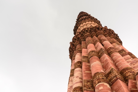 Lower angle of Qutub Minar tower photo