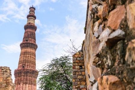 minar: Qutub Minar ,Indian UNESCO World Heritage Stock Photo