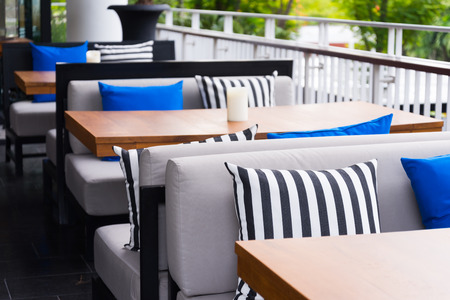 restaurant outdoor sofa table set photo