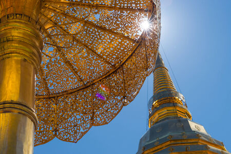 Golden pagoda of Wat Phra That Doi Suthep, Chiang Mai, Thailand photo