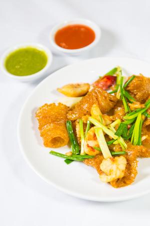 maw: stir fry fish maw shrimp prawn