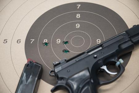 paper target gun pistol magazine Reklamní fotografie
