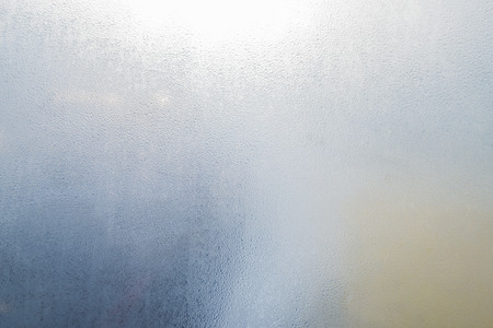 window  glass: fog condensation on window glass Stock Photo