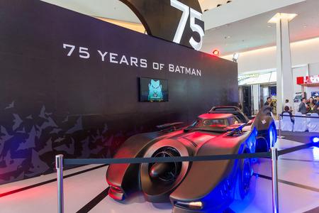 BANGKOK - JULY 4,2014 : Batmobile 75years of Batman on display in Bangkok Comic Con 2014 on July 4, 2014 at Siam Paragon, Bangkok, Thailand. Redakční