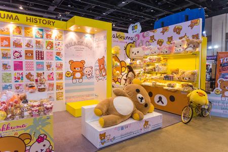 BANGKOK - JULY 4,2014 : Rilakkuma booth on display in Bangkok Comic Con 2014 on July 4, 2014 at Siam Paragon, Bangkok, Thailand.