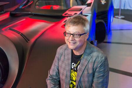 batman: BANGKOK - JULY 4,2014 : Batman Executive Producer Michael E. Uslan in Bangkok Comic Con 2014 on July 4, 2014 at Siam Paragon, Bangkok, Thailand.
