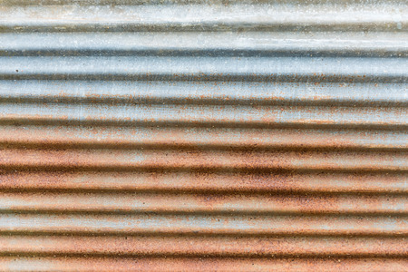 corrugated iron: zinc industries plate orange rust