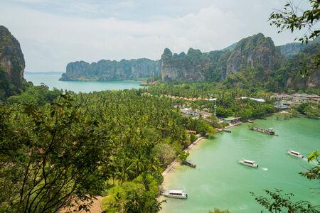 rai lay: tourist view point of Rai Lay bay, Krabi ,Thailand