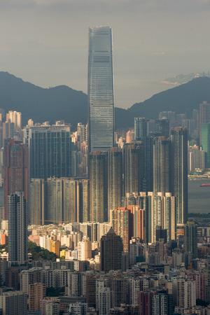sky100 building in hongkong cityscape photo