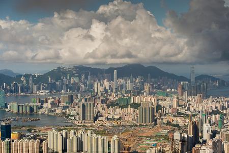 hongkong cityscape with landmark building photo