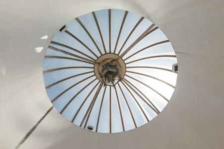 skylight: transparent circular glass skylight roof