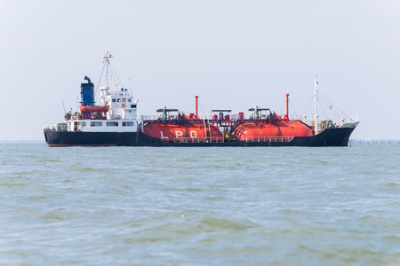 LPG gas tanker ship transportation