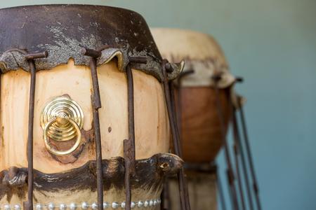 thai stretch: stretching animal skin making taiko drum