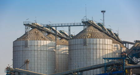 agriculture wheat rice silo