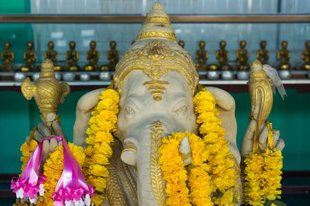 ganapati: ganesh hindu god with flowers Stock Photo