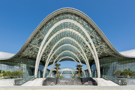 SANYA  CHINA MAY 11 : Front building of CDF Mall The world largest duty free shopping center in Hainan China on May 112015