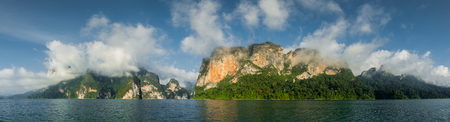 national fruit of china: panorama of lime stone mountain island in the sea
