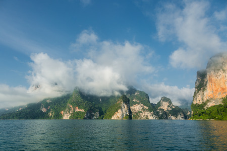 national fruit of china: lime stone island sea cloud blue sky
