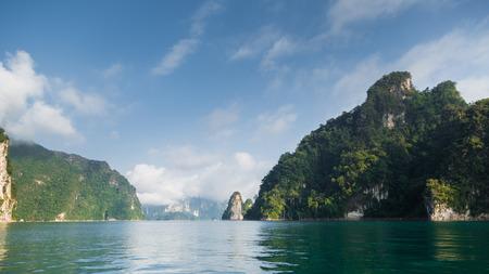 national fruit of china: lime stone island sea cloud blue sky