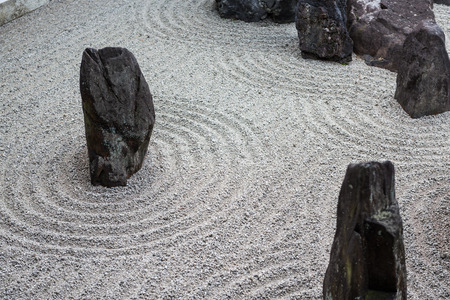 zen rocks: japanese zen stone pebble garden texture Stock Photo