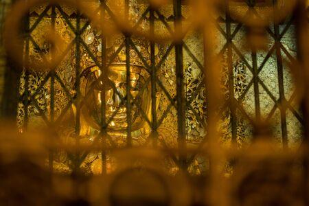 Mahamuni buddha golden statue in Maha Myat Muni pagoda, Myanmar