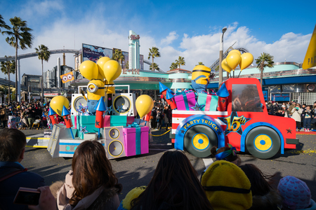 OSAKA, JAPAN - January 14,2017 : Universal Studio Japan parade Minions section celebrate Reborn 15th annivesary Redakční