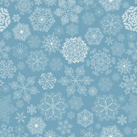 Seamless pattern with stylized snowflakes. Stock Vector - 11838937