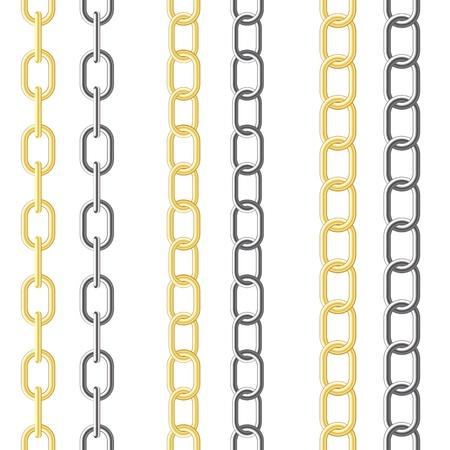 Drei Arten von unterschiedlicher Kettenlänge auf den weißen