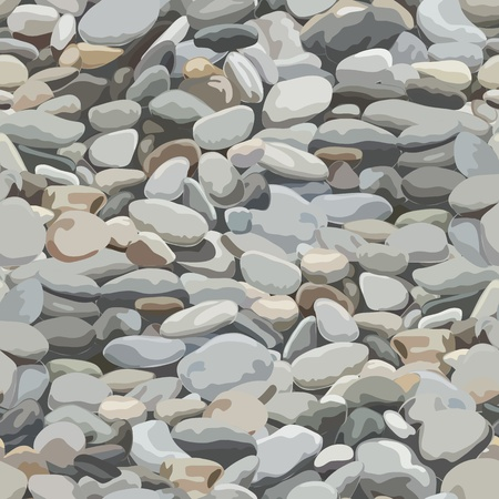 Seamless pebbles background for design and decorate. Vector