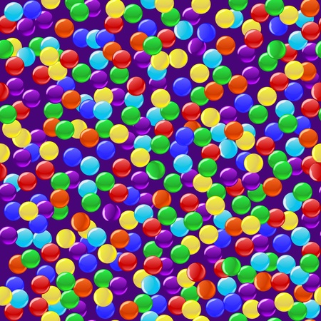 sweet stuff: Delicious colorful candies seamless background. Vector illustration