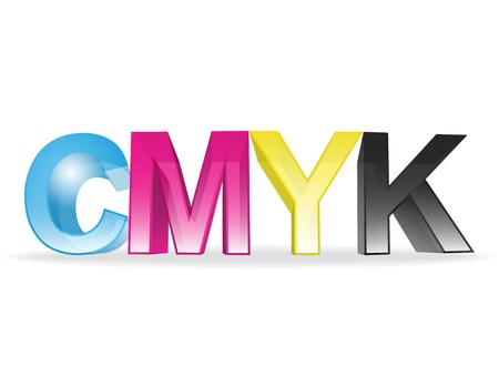 the letters CMYK Vector