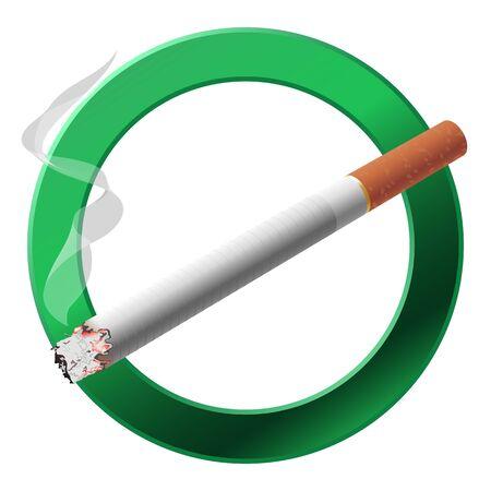 zone: The sign smoking area illustration on white background
