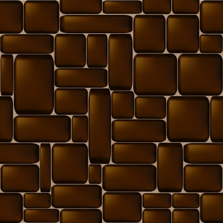 ashlar: Seamless brown sleeken stone wall illustration  Illustration