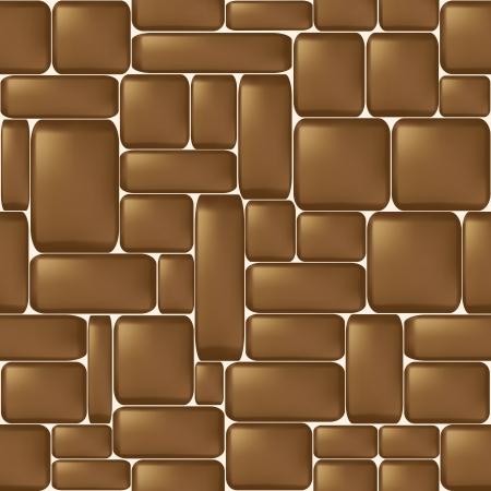 Seamless brown sleeken stone wall illustration Stock Vector - 14265436