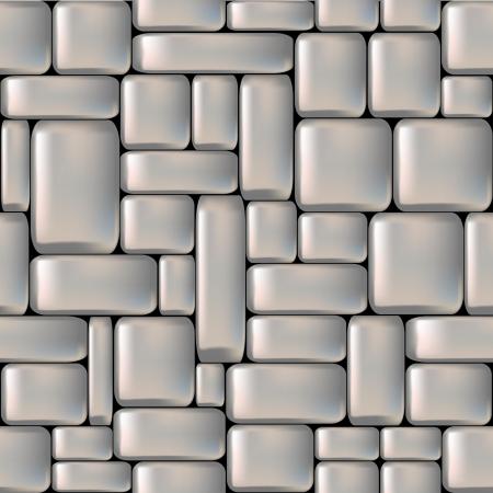 rubble: Perfecta gris sleeken muro de piedra ilustraci�n