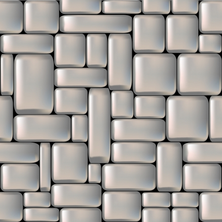 cobblestone: Seamless gray sleeken stone wall illustration