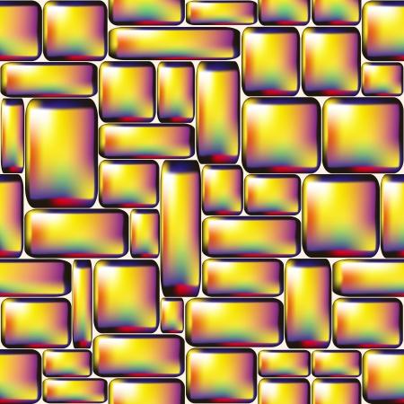 Seamless yellow glossy stone wall illustration  Vector