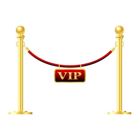 Cerco de oro sin fisuras con una cuerda de color rojo aislado en blanco