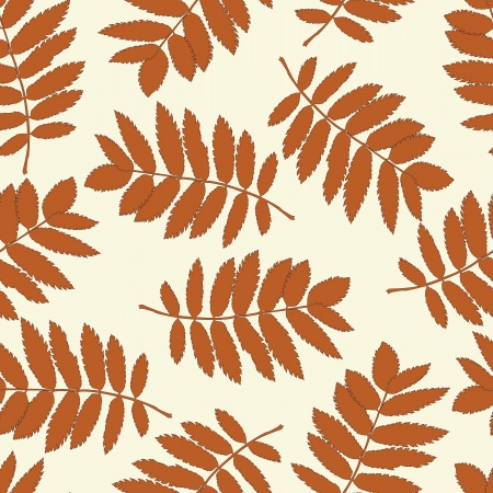 Ash leaves seamless background for your design Illustration