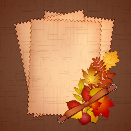 Framework for a photo or invitations with autumn leaves  Vector illustration Stock Vector - 15333402