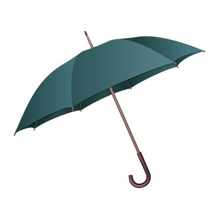 sauvegarde: Parapluie vert sur fond blanc