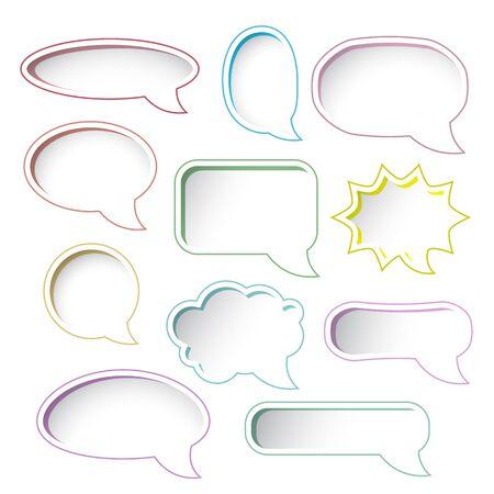 Set of colorful speech bubble frames  Stock Vector - 15796073
